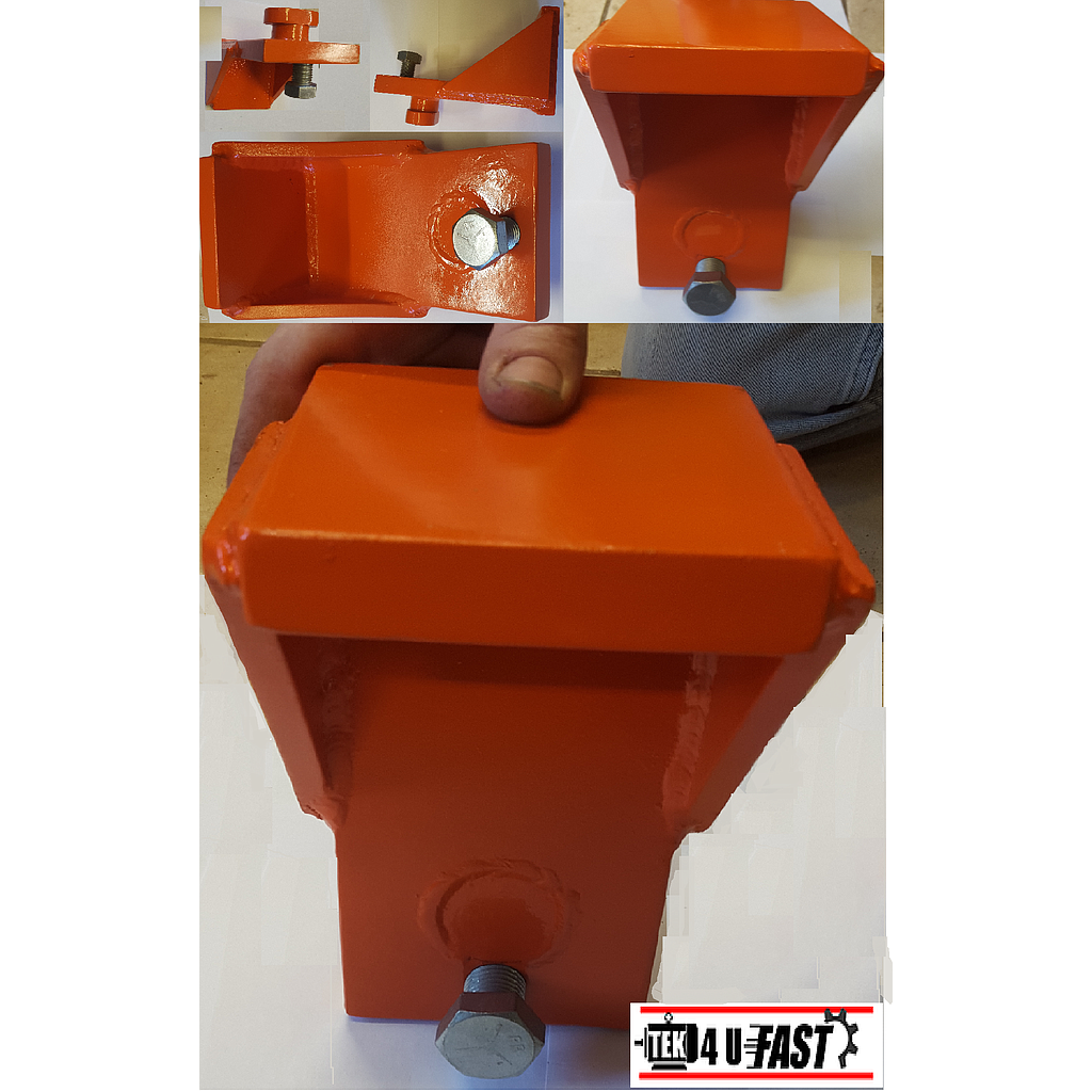 "Shipping Container, Clip-On, Jack / Lifting / Leveling Attachment 1/2"" Plate"